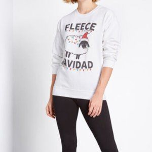 Modcloth Fleece Navidad Funny Christmas Sweater